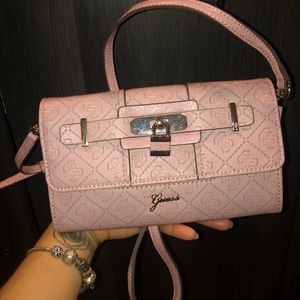 Baby Pink Guess Crossbody